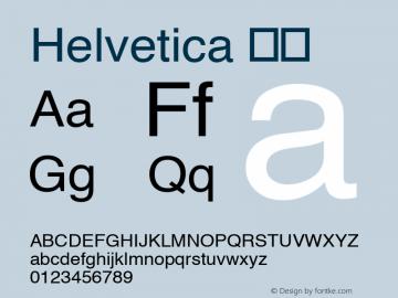 Helvetica 斜体 8.0d7e1 Font Sample