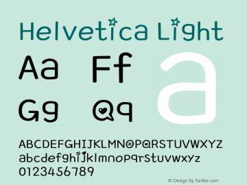 Helvetica Light 8.0d6e1 Font Sample