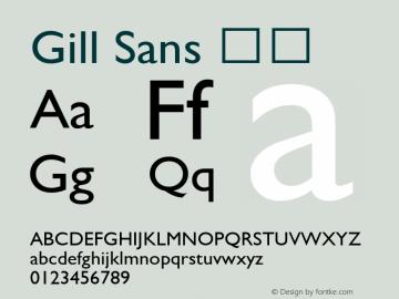 Gill Sans 斜体 6.1d9e1 Font Sample