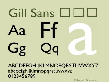 Gill Sans 细斜体 6.1d9e1 Font Sample