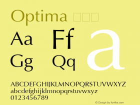 Optima 粗斜体 6.1d4e1 Font Sample