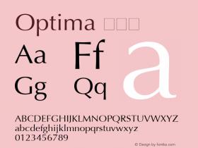 Optima 特黑体 6.1d4e1 Font Sample
