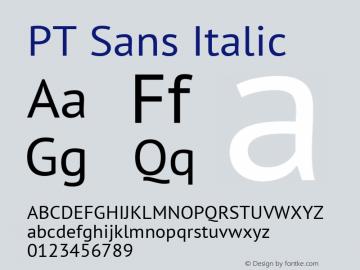 PT Sans Italic 7.0d1e1 Font Sample