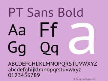 PT Sans Bold 7.0d1e1 Font Sample