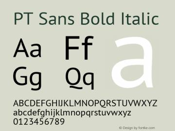 PT Sans Bold Italic 7.0d1e1 Font Sample