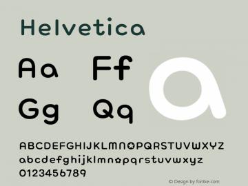 Helvetica 粗斜体 8.0d6e1 Font Sample