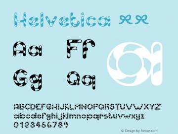 Helvetica 粗体 8.0d9e1 Font Sample