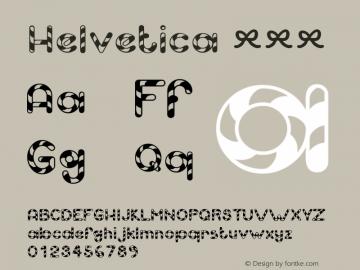 Helvetica 粗斜体 8.0d9e1 Font Sample