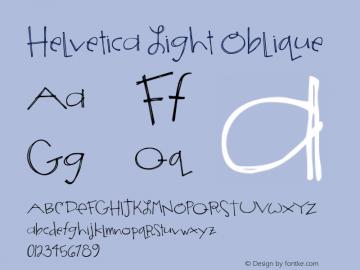 Helvetica Light Oblique 7.0d5e1 Font Sample