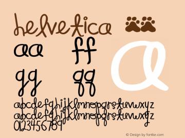 Helvetica 粗体 7.0d5e1 Font Sample