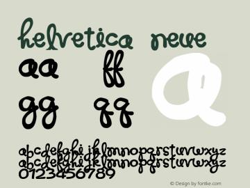 Helvetica Neue 超细斜体 7.1d2e5图片样张