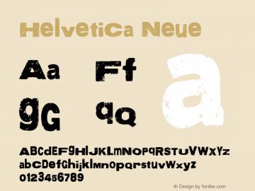 Helvetica Neue 细斜体 7.1d2e5图片样张