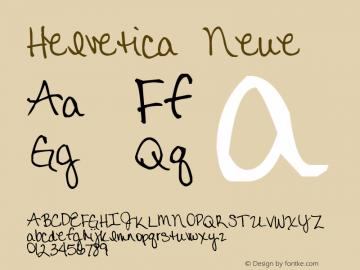 Helvetica Neue 紧缩黑体 7.1d2e5图片样张