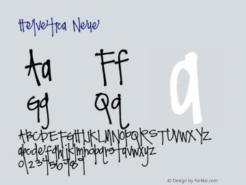 Helvetica Neue 紧缩粗体 7.1d2e5图片样张