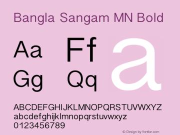 Bangla Sangam MN Bold 7.0d4e1 Font Sample