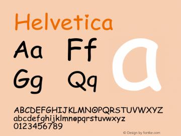 Helvetica 粗斜体 7.0d5e1 Font Sample