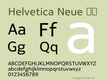 Helvetica Neue 粗体 7.1d1e4图片样张