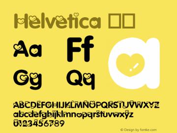 Helvetica 斜体 8.0d10e1 Font Sample