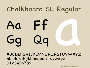 Chalkboard SE Regular 8.1d1e1 Font Sample