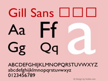 Gill Sans 细斜体 9.0d2e1 Font Sample