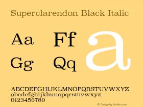 Superclarendon Black Italic 9.0d3e1图片样张