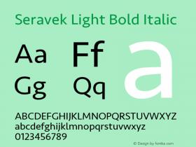 Seravek Light Bold Italic 8.0d5e1图片样张