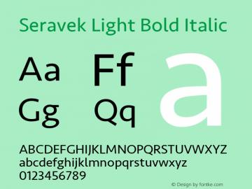 Seravek Light Bold Italic 8.0d5e1 Font Sample