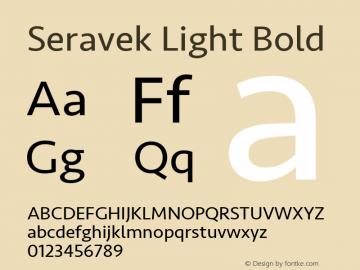 Seravek Light Bold 8.0d5e1 Font Sample