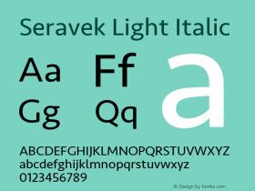 Seravek Light Italic 8.0d5e1图片样张