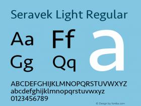 Seravek Light Regular 8.0d5e1图片样张