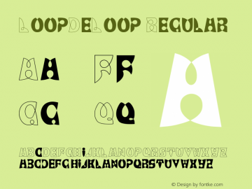 LoopDeLoop Regular Converted from C:\WIN\SYSTEM\ST000202.TF1 by ALLTYPE Font Sample