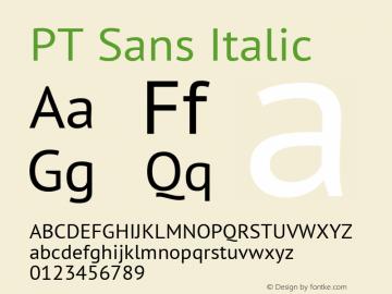 PT Sans Italic 9.0d1e1 Font Sample