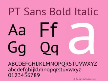 PT Sans Bold Italic 9.0d1e1 Font Sample