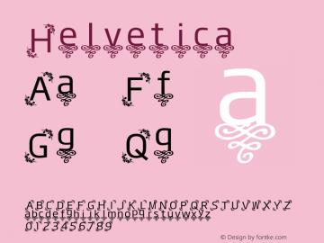 Helvetica 斜体 8.0d14e1 Font Sample