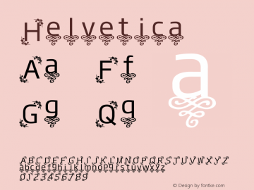 Helvetica 细体 8.0d14e1 Font Sample