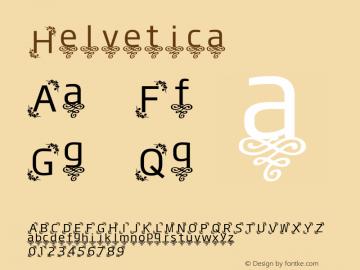 Helvetica 细伪斜体 8.0d14e1 Font Sample