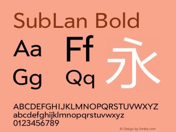 SubLan Bold 20130927 Font Sample