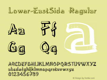 Lower-EastSide Regular Converted from F:\TTF\LOWERE__.TF1 by ALLTYPE Font Sample