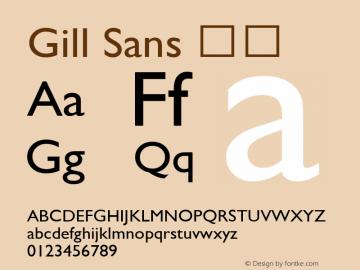 Gill Sans 斜体 9.0d5e1 Font Sample