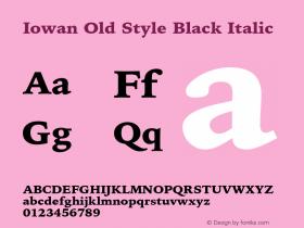 Iowan Old Style Black Italic 9.0d2e1图片样张