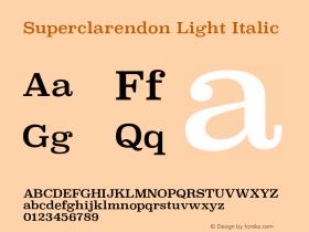 Superclarendon Light Italic 9.0d4e1图片样张