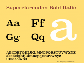 Superclarendon Bold Italic 9.0d4e1图片样张