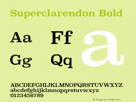 Superclarendon Bold 9.0d4e1图片样张