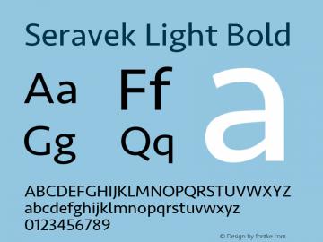 Seravek Light Bold 9.0d1e1 Font Sample