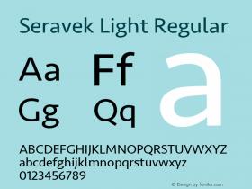 Seravek Light Regular 9.0d1e1图片样张