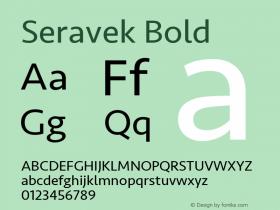 Seravek Bold 9.0d1e1图片样张