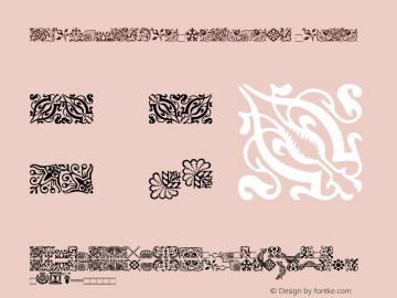 AdobeCaslonOrnaments Roman Version 1.00 Font Sample