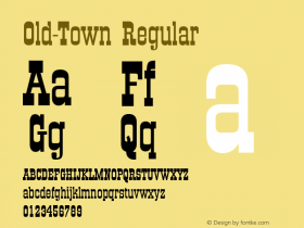 Old-Town Regular Converted from U:\HOME\PEARCE\AT\TTFONTS\ST000043.TF1 by ALLTYPE Font Sample