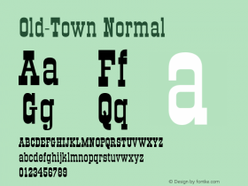 Old-Town Normal 001.000 Font Sample