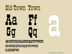 Old-Town Town Version 001.003 Font Sample
